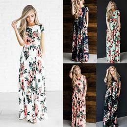 61ed3c28852d0 empire line flower print dress Promo Codes - New 2019 Summer Women Dress  Flower Robe Dresses