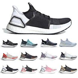 Ultra boost 45 online-Adidas Oreo Ultra boost 5.0 Ultraboost 2019 Running shoes Cloud White Black Refract Primeknit Dark Pixel men women sports trainer sneakers 36-45