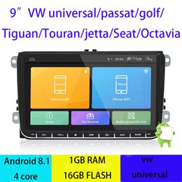 Volkswagen mp3 on-line-Android 8.1 Carro DVD Quad Core 16G ROM 1024 * 600 Tela Car Raio para VW Golf mk6 5 Polo Jetta Tiguan Passat B6 CC B5 Skoda