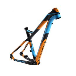 2019 xc bike Conveniente carbonio mountain bike 27.5er frame 142 millimetri * 12mm sterzo bici T800 Telaio in fibra di carbonio 15 17 pollici BB90 650B MTB xc 2019new xc bike economici