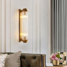 spiegeln flure Rabatt Moderne Luster Kristall Pole Led Wandleuchte Wohnzimmer Gold Metal Schlafzimmer LED-Wand-Leuchten Wohnzimmer Korridor Led Wandleuchter