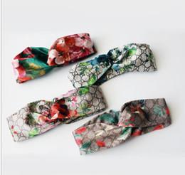Hot G Style 100% seta cross turbante fascia donne ragazza fasce elastiche per capelli retro turbante headwraps regali fiori colibrì orchidea da gs band fornitori
