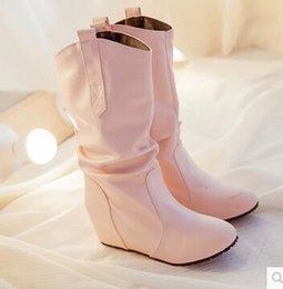 2019 hochhackige pistenschuhe Zustrom von neuen Herbstschuhen Hang mit weißen Stiefeln mit hohen Absätzen weibliche Stiefel einzelne Frauen im Frühjahr und Herbst rabatt hochhackige pistenschuhe