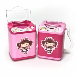 2019 mini meias 100PCS Mini Lavar Puff Todos os Gadgets Máquina de Lavar Roupa Crianças Socks automáticas de escova da composição ferramenta de limpeza Lavar Toy Jogo Móveis RRA2173 desconto mini meias