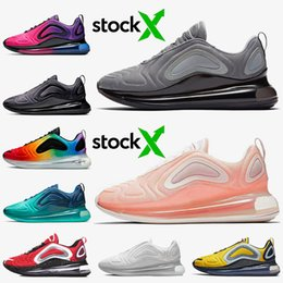 2020 or max rose nike air max 720 Fahion Mesh 72c Air Courir Chaussures Cool Pink Gris Orange Black Gold Bred Be True Sea Forêt Sunset Sunrise formateurs Designer NIK promotion or max rose