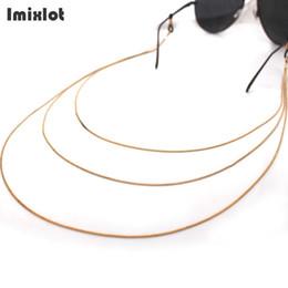 Titular de espetáculos on-line-Imixlot óculos de leitura óculos de sol do pescoço cadeia de titulares de ouro pulseira de metal óculos eyewear cadeia de óculos