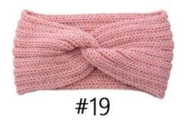 pajarita azul marino oscuro Rebajas rosa venda del pelo de tejido de punto elástico luz Barbie accesorios hechos a mano de lana hilo de diadema para el otoño cálido y cintas para el pelo de invierno