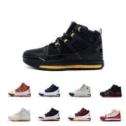 2019 Леброн III 3 Новое прибытие #23 Zoom Home SuperBron мужская баскетбольная обувь высокого качества белый синий красный черный Джеймс 3S спортивные кроссовки от Поставщики размер 13 ясно обувной коробки