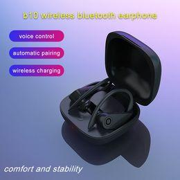 Платежное поручение онлайн-Новый b10 наушник TWS Bluetooth Non-Slip Правда Беспроводная гарнитура Поддержка беспроводной зарядки Earbuds шума BT5.0 Снижение стерео