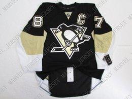 sidney crosby hockey jerseys barato Desconto Barato personalizado SIDNEY CROSBY PITTSBURGH PINGUINS HOME JERSEY ponto adicionar qualquer número qualquer nome Mens Hockey Jersey XS-5XL
