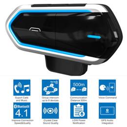 Fones de ouvido para motocicleta on-line-Capacete da motocicleta Sem Fio Bluetooth Headsets Equitação Handsfree Rádio FM Estéreo MP3 Fone De Ouvido Fácil Operação À Prova D 'Água LongStand