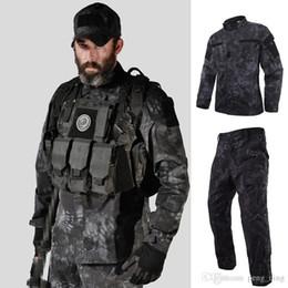 Multicam uniforme online-Tattico US RU Army Camouflage Combat Uniforme Uomo BDU Multicam Camouflage Uniforme Abbigliamento Set Airsoft Outdoor Jacket + Pants