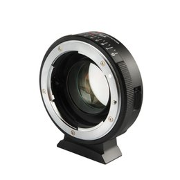 Adaptador de reforço on-line-wholesale NF-M43X Focal Reducer Speed Booster Adapter Turbo Aperture for Nikon Lens to M4 3 camera GH4 GH5GK GH85GK GF7GK GX7