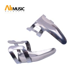 Chitarra picking dito online-12pcs Alice AP-100S chitarra in acciaio inossidabile chitarra pick dito in acciaio inossidabile spessore mm 0,3 argento