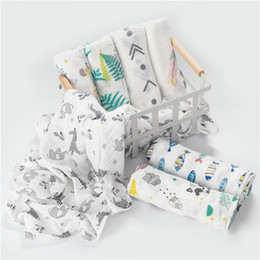 Tapis de jeu nouveau-né en Ligne-La mousseline 100% coton bébé emmaillote des couvertures douces pour nouveau-né des sacs de bain de gaze pour bébé enveloppant le sac de couchage pour la poussette