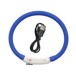 collari per cani usb Sconti Collare di cane di ricarica USB ricaricabile Collare di cane con collare di sicurezza luminoso Collare per cani con collare di sicurezza luminoso 35 cm
