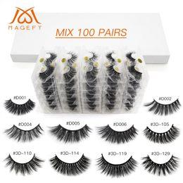 2019 tiras de cabelo sintético 20/30/40/50/60/100 pcs Atacado Mink cílios Em massa 3d Mink cílios naturais cílios postiços extensões de cílios Maquiagem