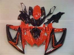 novo para a Suzuki GSXR 600 750 GSX R750 R600 GSXR600 08 09 10 GSXR750 GSXR600 K8 GSXR750 2008 2009 2010 preto laranja Fairing kit aa02 de Fornecedores de ninja zx6r para venda