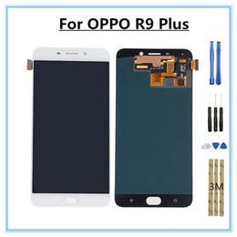 Parti di ricambio del componente del digitizer del touch screen LCD del telefono cellulare di OPPO R9 PLUS di 6.0 pollici per inviare una serie di strumenti di riparazione da