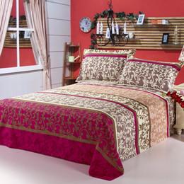 Canada Mode nouvelle impression réactive 100% coton ensemble de drap de lit motif végétal style européen draps / drap de lit en gros de coton cheap european cotton sheets Offre