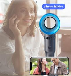 2019 usb fanhalter Leise Protable Handheld Cooling Handyhalter Lüfter USB Mini Desktop Bladeless Lüfter Wiederaufladbar No Leaf Handlich Kinder Sicher Vierte Generation günstig usb fanhalter
