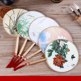 occhiali americani della ragazza Sconti Ventilatori tradizionali cinesi per le ragazze Fan di danza Donna Accessori Qipao Fotografia Puntelli Ventaglio palmare di alta qualità in seta di bambù