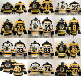 sweat à capuche bleu marine pour homme Promotion Boston Bruins 88 David Pastrňák 33 Zdeno Chara Jersey 8 Cam Neely 63 Brad Marchand Charlie Mcavoy 74 Jake DeBrusk 46 Krejci hockey Jerseys