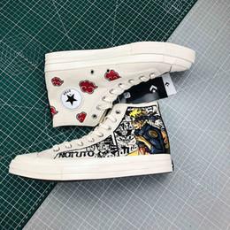 2020 design estelar calçado casual 2019 Naruto X 1970 Chuck Estrela Graffiti calçados casuais Formadores Sports Sneaker Moda nuvem projeto Homens Mulheres desenhista calça EUR 35-44 desconto design estelar calçado casual