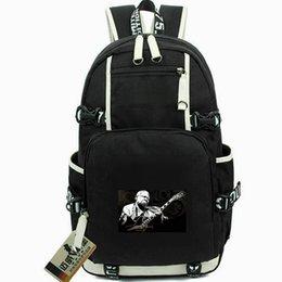 Re di porta online-Riley day pack BBking daypack B B King zainetto Blues Music packsack Zaino per laptop Borsa da scuola sportiva Out door backpack