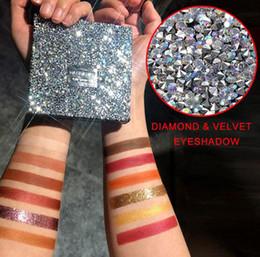 2019 paleta completa HANDAIYAN Diamond Eyeshadow Palette Lantejoulas Fosco Perolado 12 Cor Sombra de Diamante Cheia de Sombra de Olho Brilhante paleta completa barato