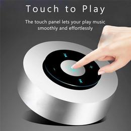 2019 microfono bluetooth Bluetooth Speaker touch screen, altoparlanti portatili senza fili Bluetooth con Audio HD / 12 ore Playtime / Bluetooth 4.1 / Micro Supporto SD microfono bluetooth economici