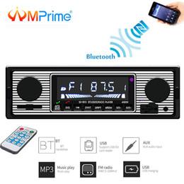 2019 flash player mp3 AMPrime áudio estéreo USB Radio MP3 Car FM Aparelho de som alto-falante Bluetooth Áudio Leitor de Cartão USB Flash Drive 1 Din Radio Tune flash player mp3 barato
