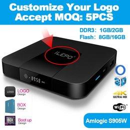 Argentina Gratis exclusivo logotipo personalizado para TX3mini Android tv box Amlogic S905W 2 GB 16 GB Venta caliente para 4 K smart tv Suministro