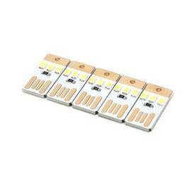 farbwechselladegeräte Rabatt Nachtlampe Mini Pocket Karte USB Power LED Keychain Nachtlichter 0.2W USB LED Birnen Buch Licht für Laptop PC Powerbank
