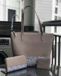 Argentina Diseñador de la marca de las mujeres más grande brillo monedero conjunto Patchwork hombro brillante crossbody bolsas de compras pu mujeres bolso totes Suministro