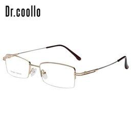 3add3c9b94c Half Rim Light Optical Reading Glasses Frame Memory Titanium Eyeglasses  Frames For Unisex