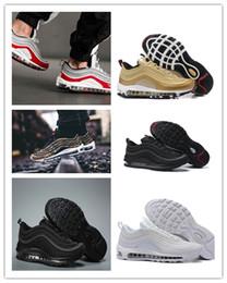 buenas pestañas Rebajas NIKE Air max 97 2019 Zapatos de diseñador 7 Have a Good Day Zapatos para correr SE GS Metallic Gold Silver Bullet Tab Hombres Mujeres Zapatos Zapatillas 5-11 T6