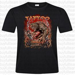 Tatuagem da camisa dos homens on-line-Men Pescoço Rodada Moda Casual lobisomem tatuagem impressa em preto manga curta Tops T Shirt Tamanho S-3XL