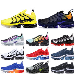 Mejores zapatillas para correr online-Nike Vapormax Plus TN Designer Men Women Sneakers Hyper Blue Sunset Game Royal Ultra White Black Best TN Trainers Sport Running Shoes 5-11