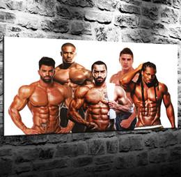 Большая рама для стен онлайн-Чемпион по бодибилдингу Big Guy, 1 шт. Отпечатки на холсте Wall Art Картина маслом домашнего декора