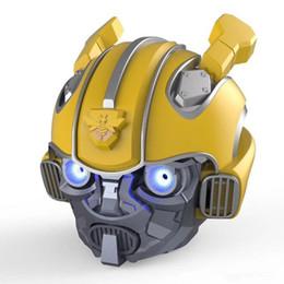 Bumblebee Başkanı Bluetooth V5.0 Hoparlör Hoparlör Stereo Hifi Araba Kask Subwoofer Için Mic Ile Telefon Ile TF Kart Yuvası oyuncu nereden