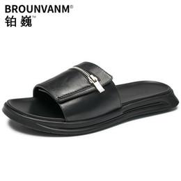 71e82e700 2019 корейские мужские сандалии воловьей кожи тапочки мужчины открытый  молодежный тренд корейской версии сандалии досуг личности
