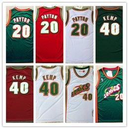Mens 20 Gary Payton 40 Shawn Kemp ritorno al passato Jersey ricamo Università retrò Basket universitario indossa maglia cucita S-2XL Top Quality da