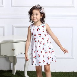 b7dd9dfca361 Fashion Baby Girls Dress Baby Girl Summer Clothes With Floral Casual Dresses  Sleeveless O-Neck Beach Dress Children Clothes