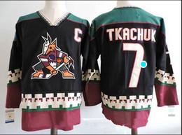 pullover nhl vuoto Sconti Maglia a buon mercato all'ingrosso Phoenix Coyotes VTG Vintage Blank 7 TKACHUK 97 ROENICK Jersey NHL TAGLIA: S-3XL