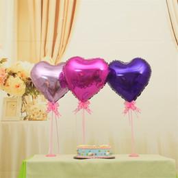 Ballons tisch online-Valentinstag Herzförmige Tischdekoration Ballon Bunte Aluminium Film Party Bar Geburtstag Hochzeit Dekorationen Mode Neue 1 5fzD1