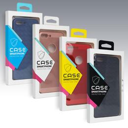 2019 karton hängen Handyhülle Karton Papierbox mit Fallloch Schutzboxen für iPhone 7 / 7s 8 / 8s Hartlederhülle günstig karton hängen