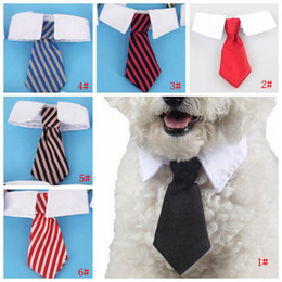 pet dog bow fashion ties Coupons - Fashion Stripe Pet Tie Adjustable Dog Cat Ties Teddy Pet Puppy Toy Grooming Bow Tie Necktie Clothes Party Tie Pet Headdress DBC DH2515