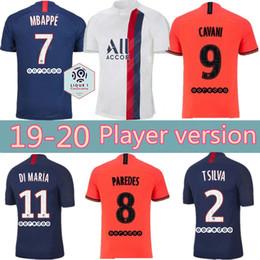 Maillots versión del reproductor de fútbol PSG 19 20 camiseta de fútbol 2019 2020 Paris Mbappé ICARDI Marquinhos CAVANI Jersey Camisetas de futbol camisa desde fabricantes