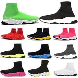 Zapatos de arranque para las mujeres online-2020 zapatos de lujo de diseño del calcetín de la zapatilla de deporte Running Trainer velocidad Speed Trainer calcetín Carrera Participantes bota negra zapatos hombres mujeres deporte zapatilla de deporte 36-46